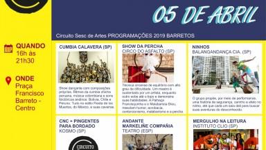 Definida programação do Circuito Sesc de Artes 2019 em Barretos