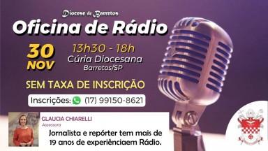 Diocese de Barretos promove Oficina de Rádio no dia 30