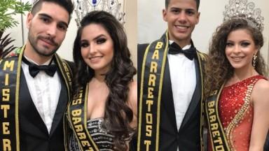 Miss & Mister Barretos Oficial 2020 são apresentados durante Live da Beleza