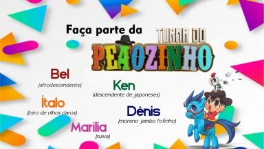 Crianças serão selecionadas para participações na websérie Turma do Peãozinho