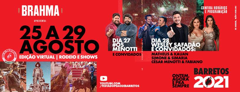 Festa do Peão de Barretos confirma mais atrações musicais e esportivas durante Lives
